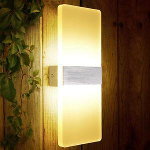 6W-Wandleuchte-Wandlampe-Warmweiss-LED-Effektlampe-Flutlicht-Flurlampe-Strahler