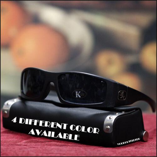 Homme Nouveau Lunettes de Soleil KHAN SPORT Design élégant plongée Motard Noir épais Shades