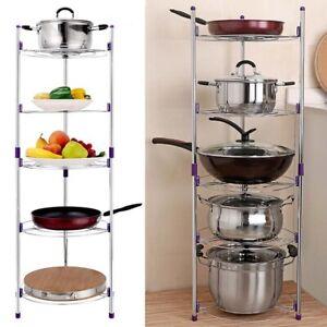 Free Standing 5 Tier Kitchen Pan Stand Pot Saucepan ...