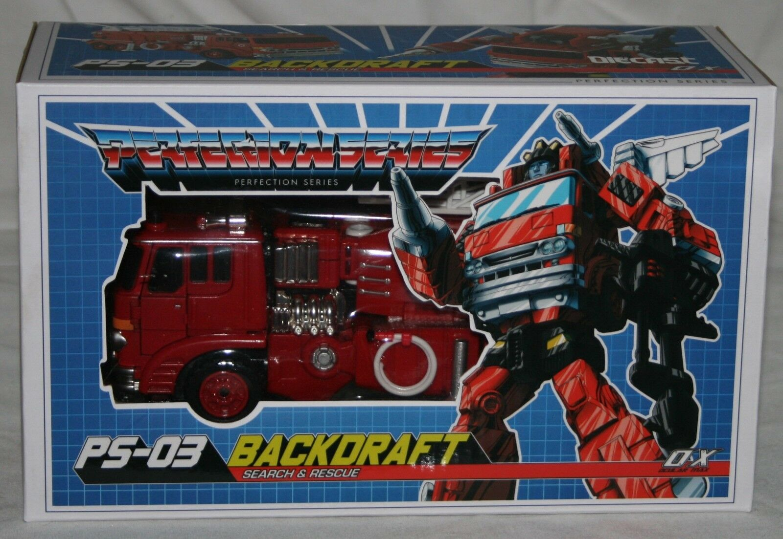 Transformers Mastermind Creations ps-03 Backdraft sin usar y en caja sellada