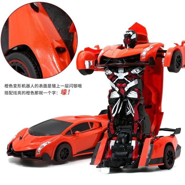 Transformer Remote Control Deformation Robot Car Lamborghini Orange