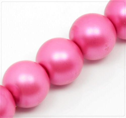 40x Glaswachsperlen Rund Schmuck Basteln Perlen Beads DIY Farbwahl Matt 10mm