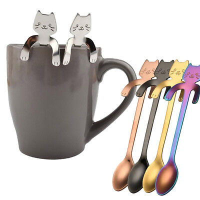 Retro Stainless Steel Ice Cream Cocktail Teaspoons Coffee Soup Tea Spoons