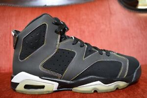 d3918ed9b6d5 2009 Nike Air Jordan Retro 6 VI Lakers Grey Black GS 384655-002 Size ...