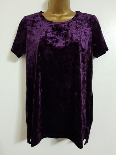 NEW OASIS 6-18 Black Crushed Velvet Evening Top Blouse