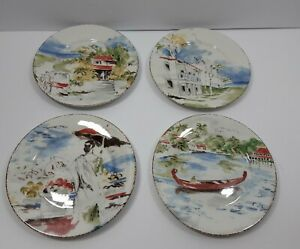 Set-of-4-PIER-ONE-Destination-7-5-034-Luncheon-Salad-Side-Dessert-Plate