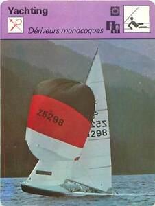 FICHE-CARD-Deriveurs-Monocoques-Optimist-Vaurien-420-470-505-Voilier-Yacht-70s