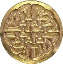 "slightly irregular Heart in Wreath Wax Seal Stamp 3//4/"" brass seal /& handle"
