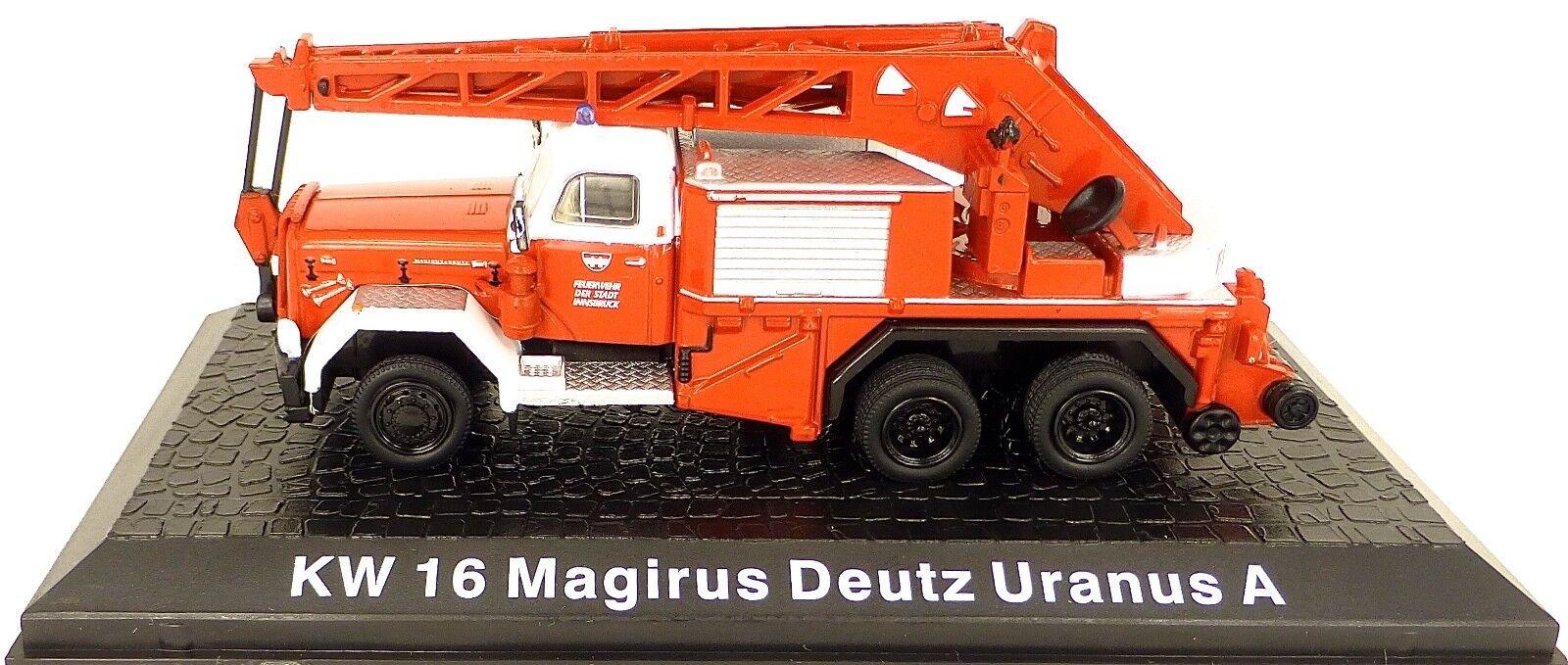 Fire Fire Fire Brigade Kw 16 Magirus Deutz Uranus a 1 72 u' L3 53339c
