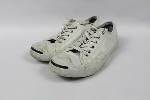 2d4779b00e25 Converse Jack Purcell Mens Size 7 Womens 8.5 Leather Lace Sneakers ...