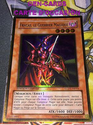 OCCASION Carte Yu Gi Oh FRACAS LE GUERRIER MAGIQUE DES TENEBRES OP10-FR004