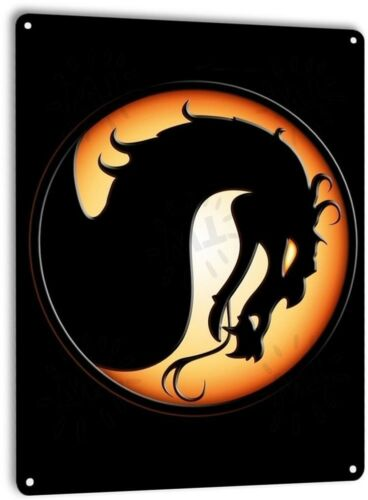 Mortal Kombat Classic Fight Arcade Marquee Game Room Wall Decor Metal Tin Sign