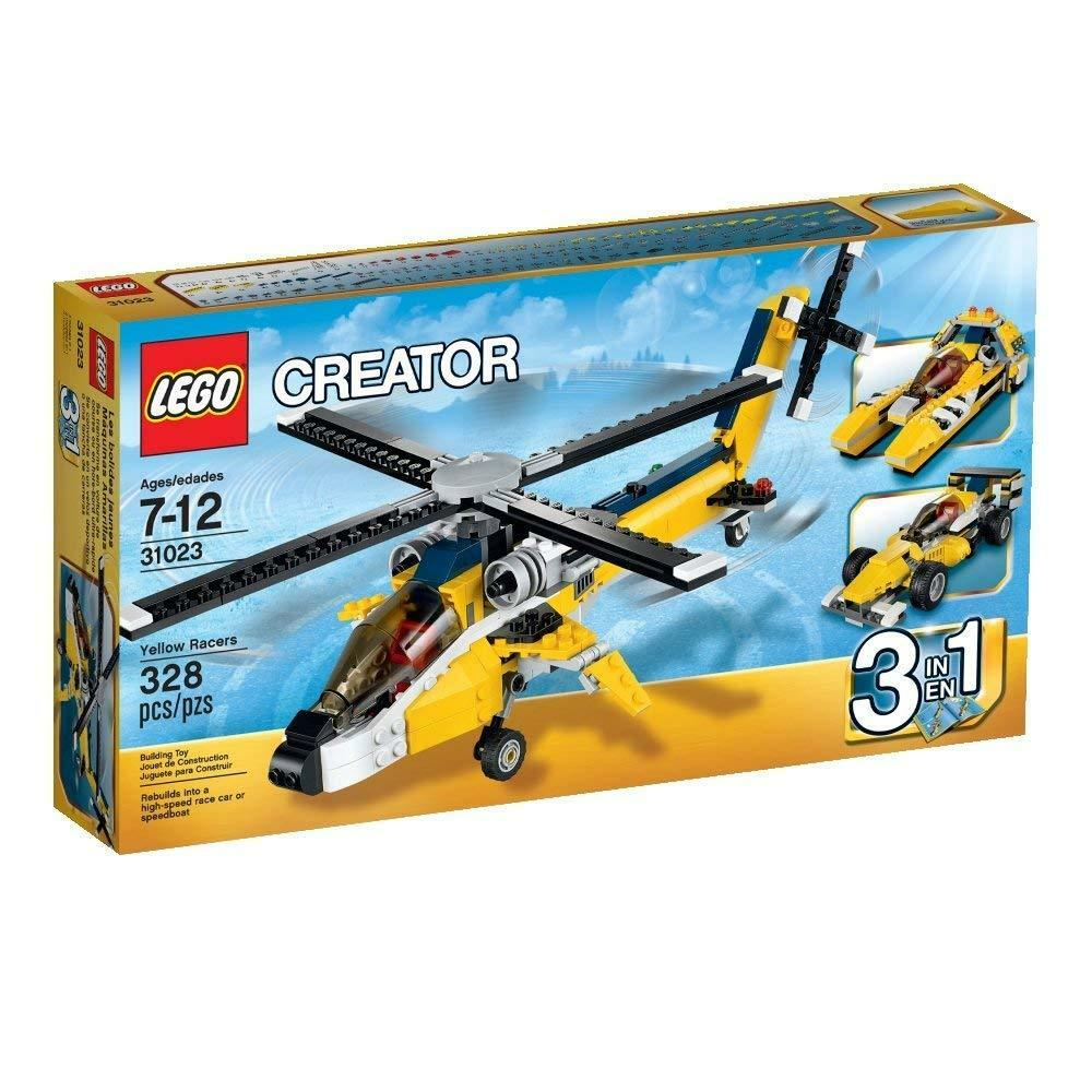 LEGO Creator 31023 Yellow Racers Build Construction 3 In 1 Toy  BRAND NEW