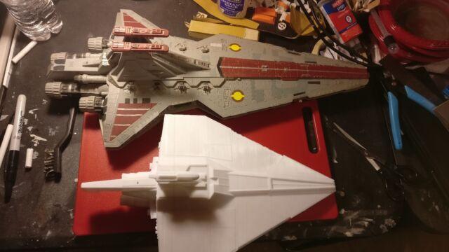 Star wars Clone Wars Acclamator class assault ship model kit (3d printed PLA)