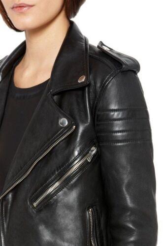 motociclista in design di fit da di agnello Giacca da pelle slim donna da motociclista vera vCaqnxAX