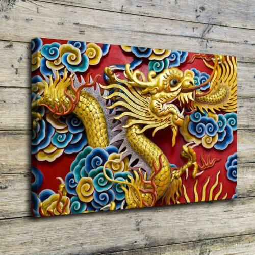 """12/""""X18/""""The Chinese Dragon HD Canvas Prints Home Decor Picture Wall Art Poster"""