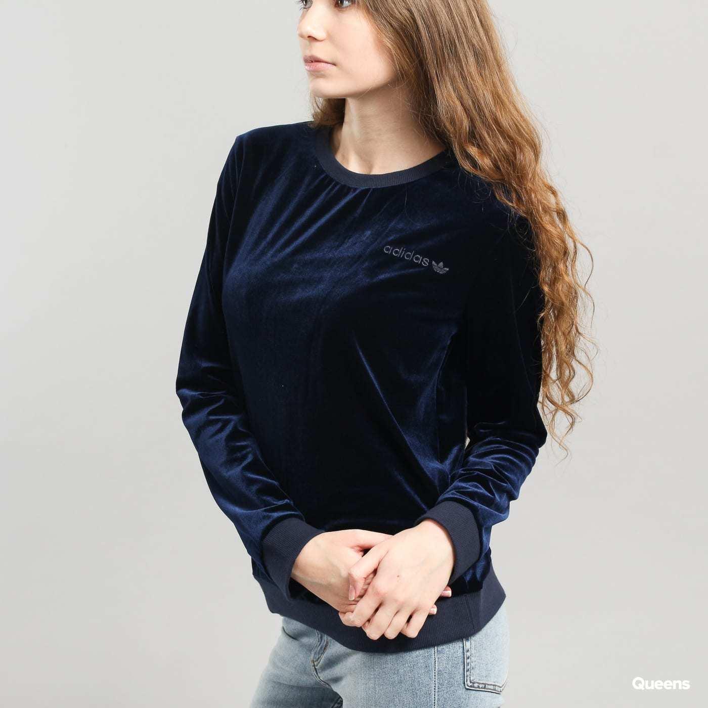 NWT adidas original Samtpullover BR0299 Größe S Damenjacke dunkelblau