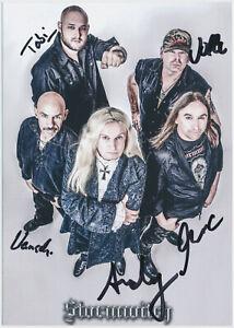 Stormwitch-hand-signed-Autograph-Autogramm-Autogrammkarte-original-signiert
