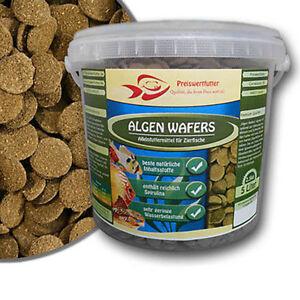 Algen-Wafers-5-Liter-Eimer-2-5-kg-Futter-Welsfutter-Welse-Schmerlen-Spirulina-5l