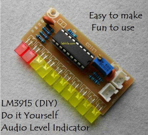 Water level indicator diy kit for electronic projects ebay e29 lm3915 diy audio level indicator kit electronic sound vu meter components solutioingenieria Choice Image