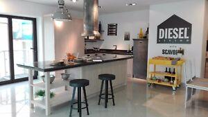 L-Einbauküche Scavolini Diesel Social Kitchen mit Kochinsel ...