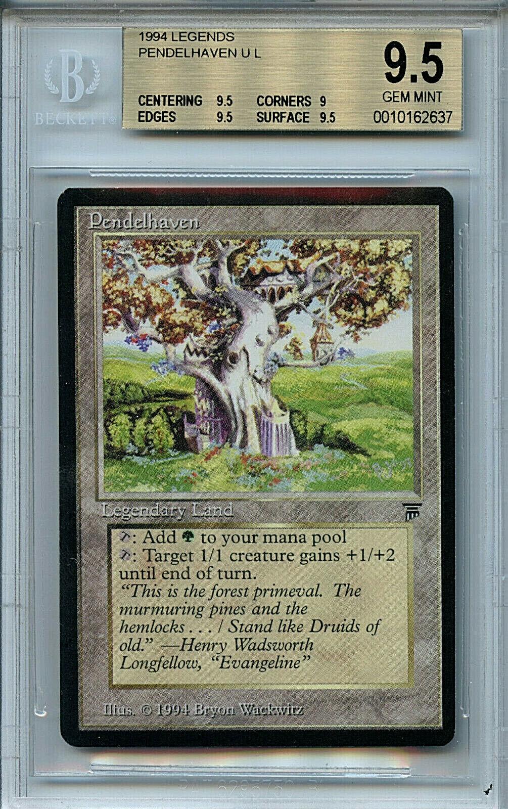 MTG Legends Pendelhaven BGS 9.5 Gem Mint Card Magic Amricons 2637
