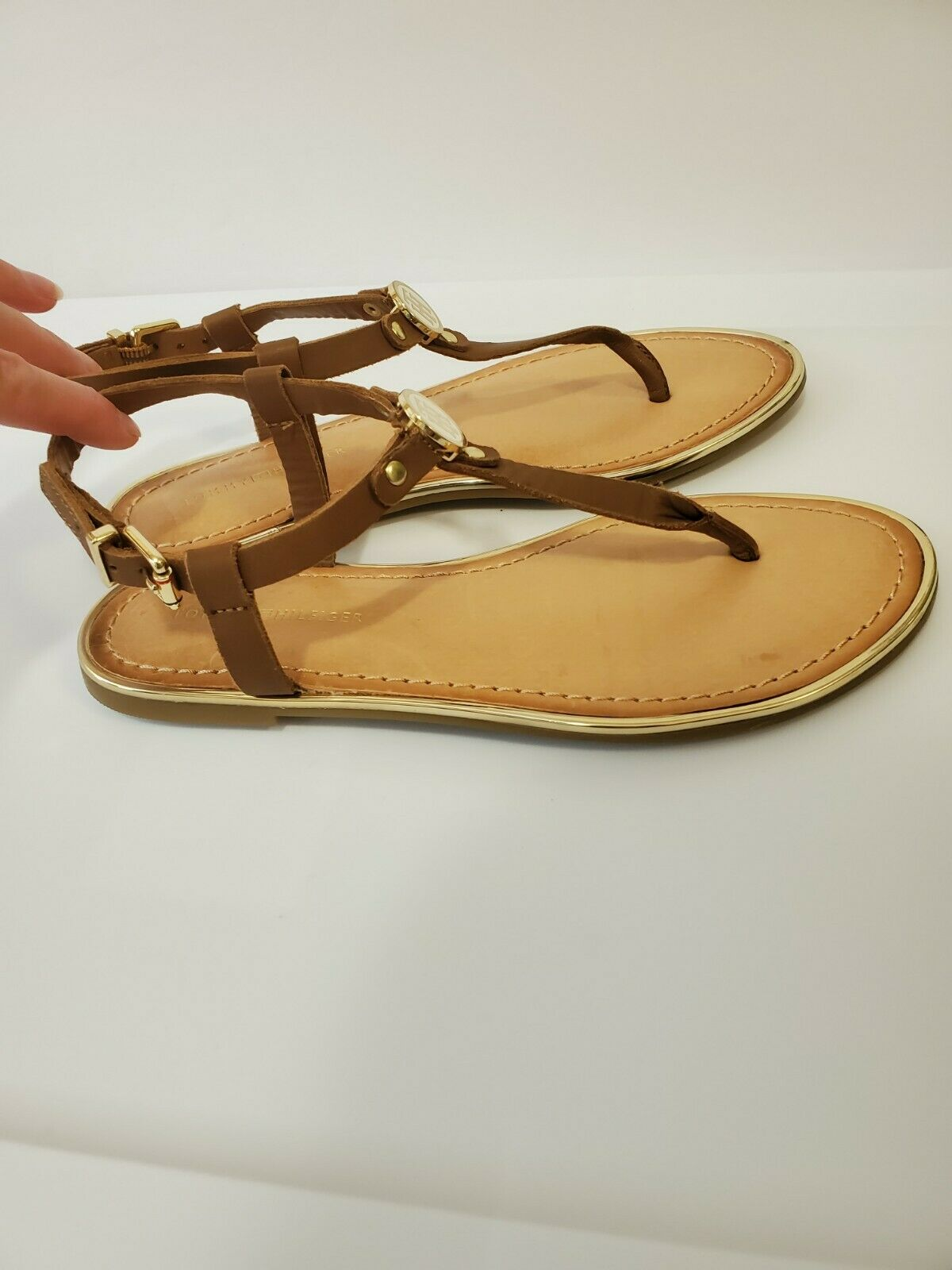 Tommy hilfiger women Brown Leather Sandals  - image 6