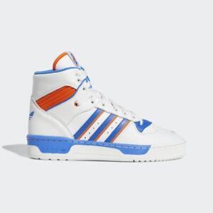 separation shoes 47ff6 083f0 Image is loading Adidas-Originals-Rivalry-High-White-Blue-Orange-Men-