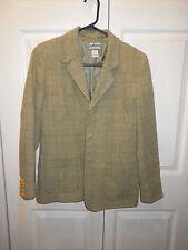 Pendleton Originals Wool Blazer Jacket Sage Green Tartan Plaid  Womens Small S