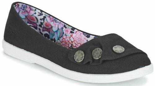 Blowfish Tucia Black Rancher Womens Pumps Slipons Flats Shoes