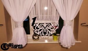 New-Net-Curtain-White-Voile-amp-Openwork-155-Firanki-Tullgardine-Store