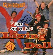 """Cliff Richard signed autograph 12"""" LP sleeve UACC AFTAL online COA"""