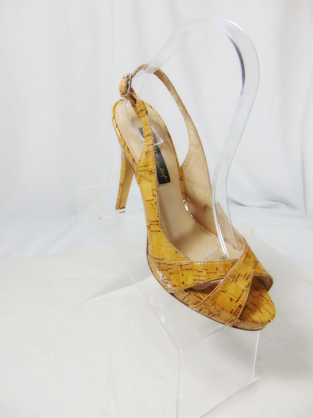 A.B.S Allen Schwartz Women's Pumps High Heel Slingback Platform Pumps Women's 9 B (M) Patent b82b5e