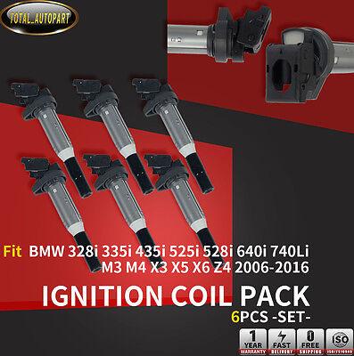 6x Ignition Coils for BMW 328i 335i 435i 525i 528i 640i 740Li M3 M4 X3 X5 X6 Z4