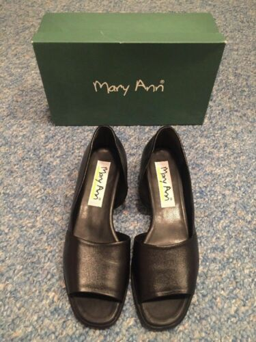 Italie noir 40 Uk Peeptoe Chaussures Marry Ann 6 100 5 Fabriqué Ladies En Eu cuir EwxzpPq