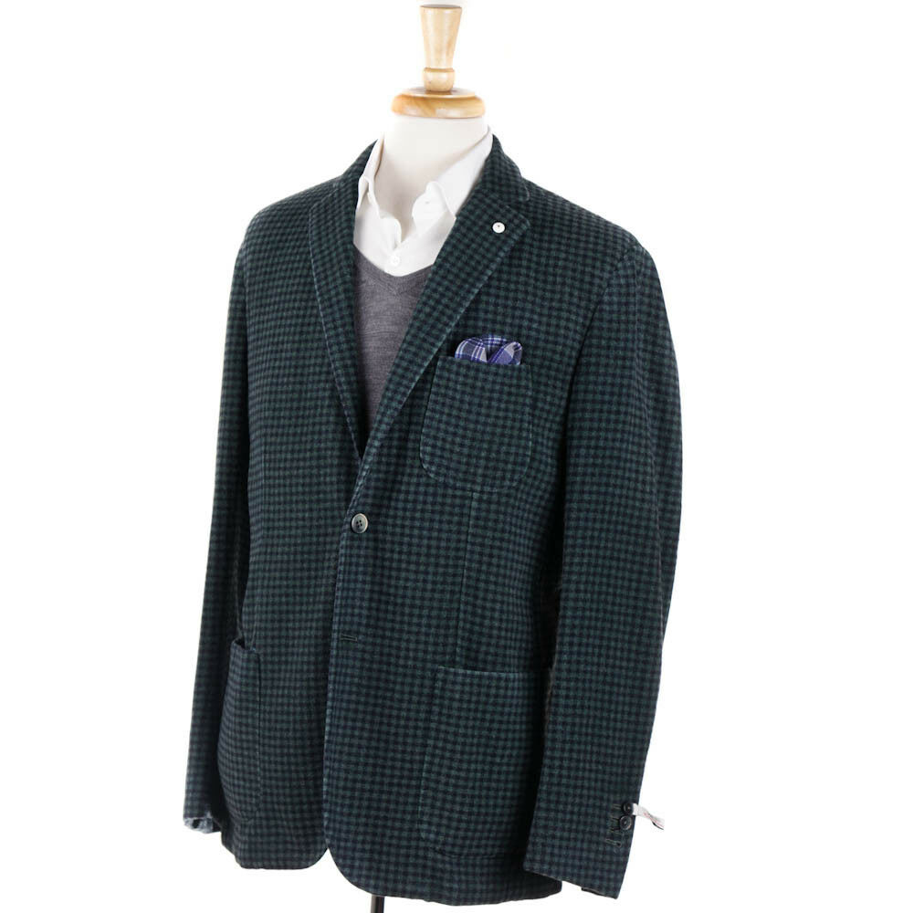 NWT  L.B.M. 1911 Unstructured Wool and Cashmere Sport Coat Slim 48 R
