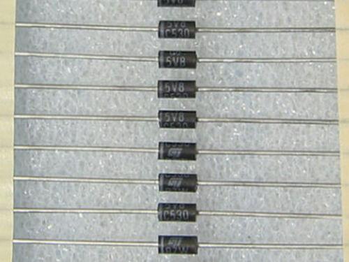 10 diodes BZW06-5V8 5,8V 600W STMicroelectronics