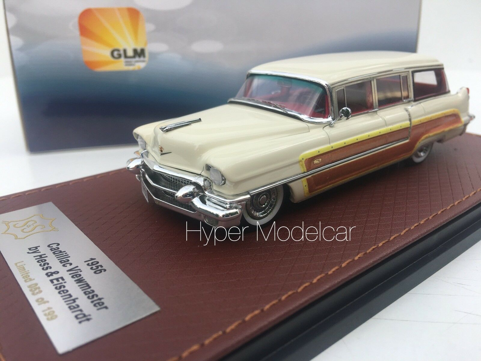 GLM 1 43  CADILLAC Series 62 Hess & Eisenhardt Wagon 1956 blanc Article glm120302  wholesape pas cher