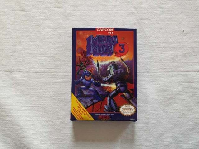 Mega Man 3 Megaman NES Entertainment System - ONLY Box With Insert - Repro