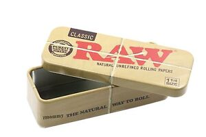 RAW-1-1-4-Cone-Caddy-Metal-Storage-Container-Tin-Rolling-Papers-79mm-Free-Ship