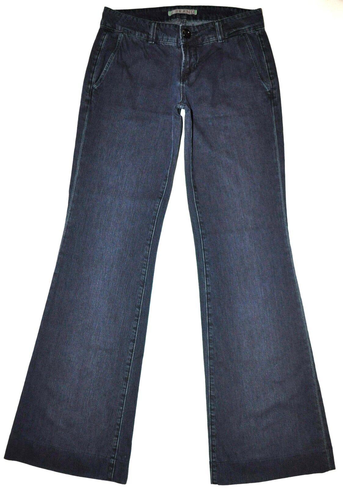 J Brand Women's Dark bluee Obsidian Seline Flare Trouser Jeans 26 X 33 3 4 Long