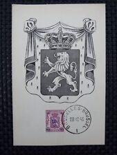 BELGIEN MK 1945 WAPPENLÖWE MAXIMUMKARTE CARTE MAXIMUM CARD MC CM a6665