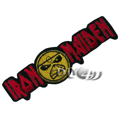 IRON MAIDEN  Embroidered Iron on Patch Badge Punk Rock Metal