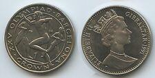 GS381 - Gibraltar 1 Crown 1991 KM#68 Läufer Runners Olympiade Barcelona