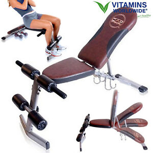WEIGHT-BENCH-ADJUSTABLE-Flat-Incline-Exercise-Decline-Workout-Strength-Training