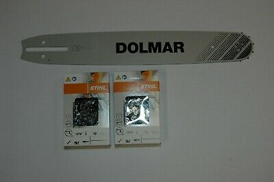 """55cm Schwert 3//8/"""" 4 Ketten 76TG 1,5mm für Dolmar PS500"""