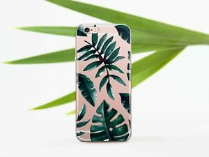 Floral-Tropical-Leaves-iPhone-XS-Max-XR-iPhone-6-6s-iPhone-7-8-Clear-Case-Cover