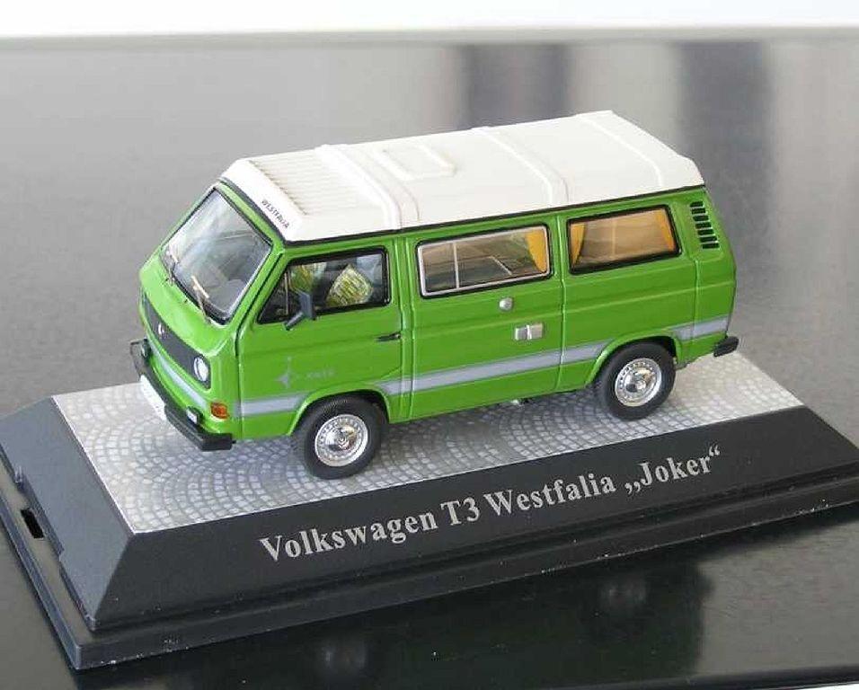 + VW t3 A BUS JOKER verde in 1 43 con sul tell tetto di Premium ClassiXXs NUOVO