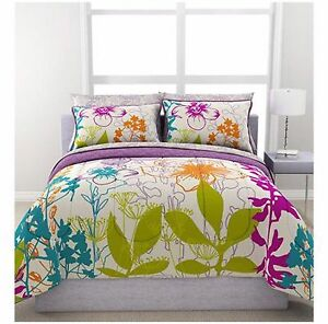 complete bedding set multi color 2 faces floral twin full queen size flower teen ebay. Black Bedroom Furniture Sets. Home Design Ideas