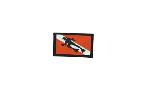 aufnäher gedruckt abzeichen Aufbügel flagge patch scuba fahnetauchen tauchsport